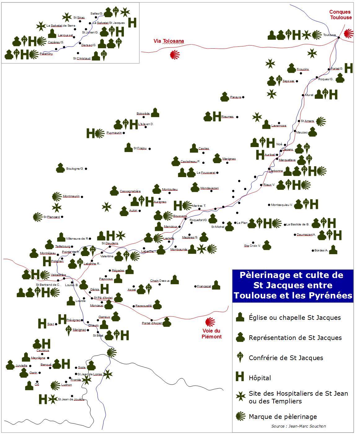 Carte Via Garona