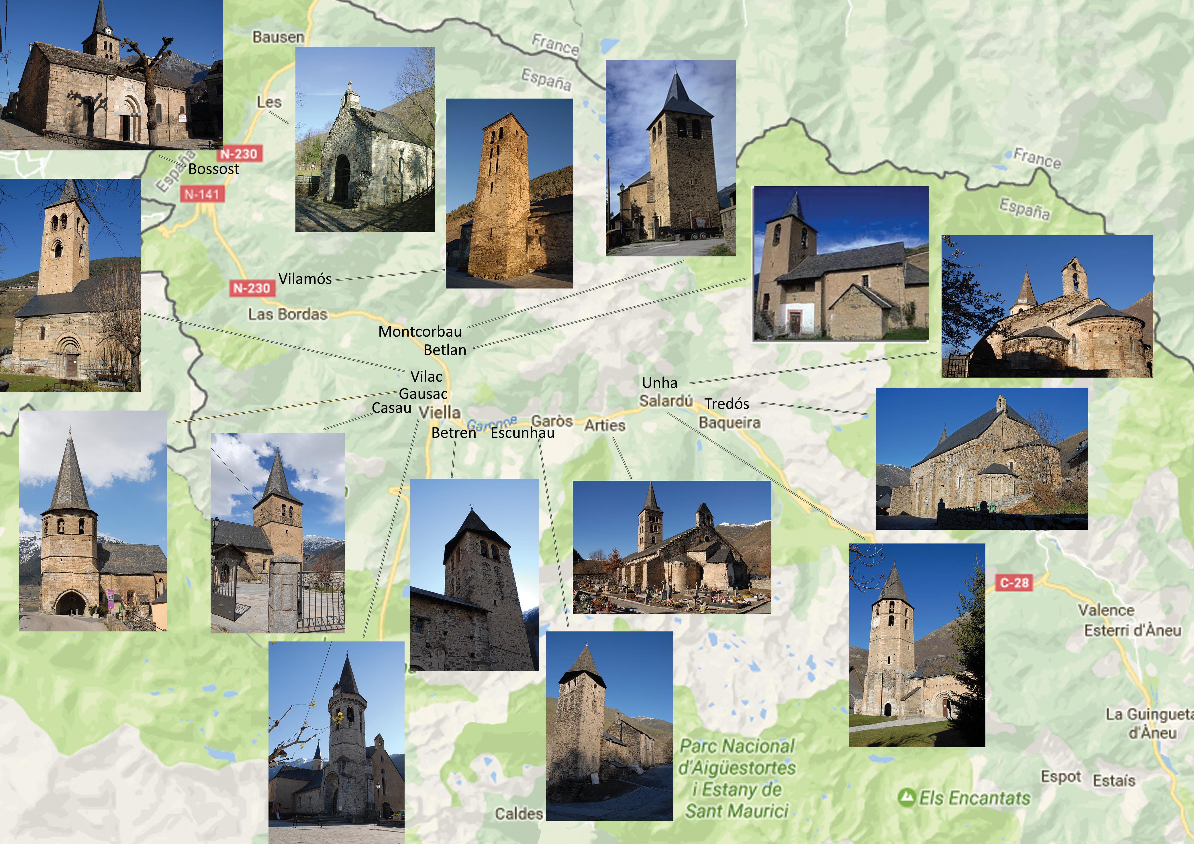 Carte du Val d'Aran RVB